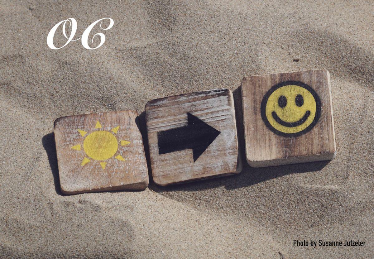 Llega el verano sol y carita sonriente